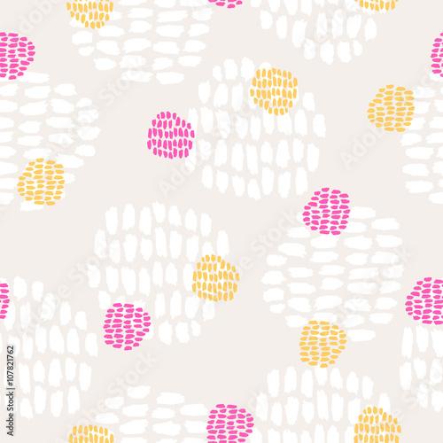 Cotton fabric seamless hand drawn pattern