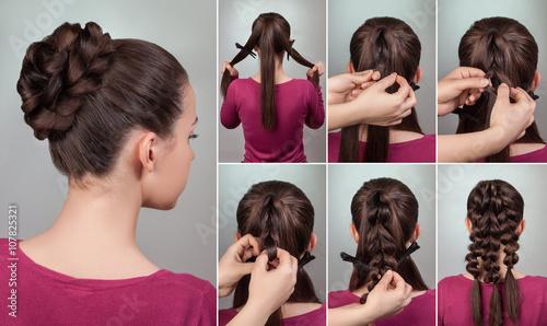 Fototapeta hairstyle tutorial