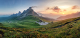 Fototapety Mountain nature panorama in Dolomites Alps, Italy.