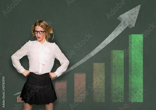 Poster Amateur business financial investor flexing confidence celebrating profit stock