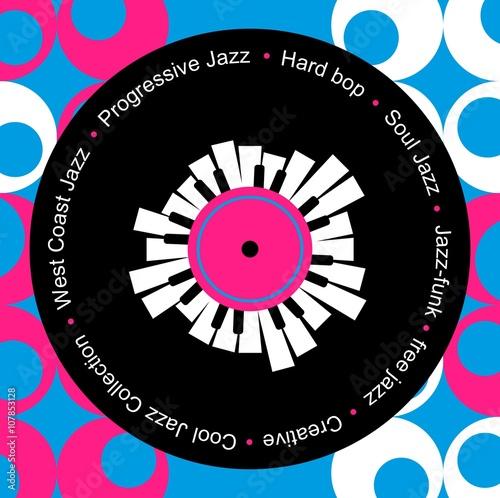 Fototapeta jazz and blues music record