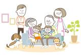 家族 ソファ 三世代