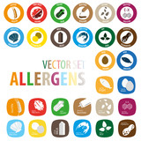 Allergens vector set