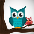 Obrazy na płótnie, fototapety, zdjęcia, fotoobrazy drukowane : Vector illustration of an Owl, graphic design