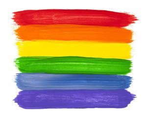 Rainbow Paint Strokes © pixelrobot