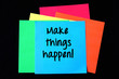 Make things happen on colorful paper