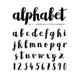 Fototapety Hand drawn vector alphabet, font, isolated letters written with marker, ink