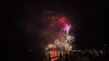 fireworks with silhouettes of people in a holiday events thailand new year
