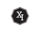 XI retro initial monogram letter logo. vintage label typography .