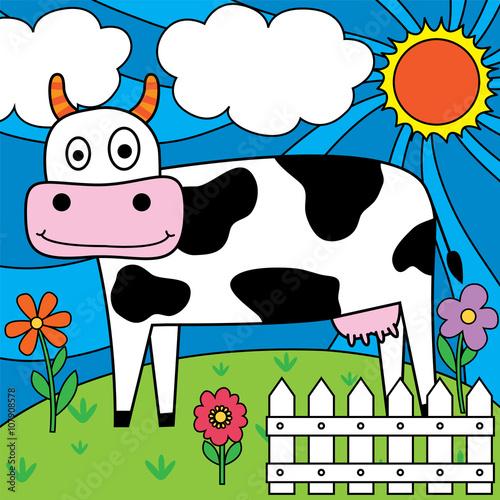 Obraz dairy cow design