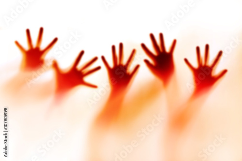 Abstract silhouette of a hands, soft focus and blur