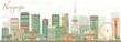 Obrazy na płótnie, fototapety, zdjęcia, fotoobrazy drukowane : Abstract Nagoya Skyline with Color Buildings.