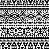 geometric abstract seamless pattern, ethnic style in black and white