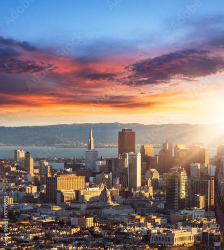 Staande foto Stockholm skyline of San Francisco