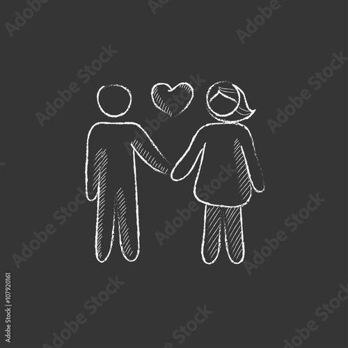 para-zakochanych-rysowane-kreda-ikona