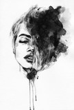 Woman face. Fashion  illustration