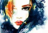 Woman face. Fashion  illustration - 107920978
