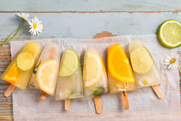 homemade fruit popsicle sticks