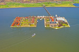 Aerial view from helicopter on Ellis Island - 107925965