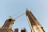 building of skyscraper in Dubai city