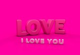 Seni Seviyorum, 3D Tipografi