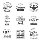 Set of vintage motivation typographic quotes.