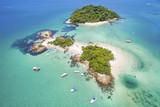 Fototapety Aerial view of Cataguases Island in Angra dos Reis, Rio de Janeiro, Brazil.