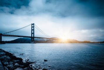 Fototapeta most Golden Gate o wschodzie