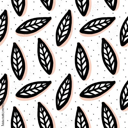 Tapeta Abstract seamless pattern in scandinavian style.