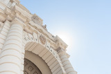 Pasadena City Hall in Mediterranean Revival and Spanish Colonial entrance from low angle - 107974152