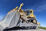 Fototapety Heavy equipment machine bulldozer on construction jobsite