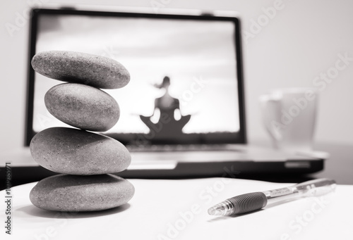 Foto op Canvas Zen Relaxed and stress free work environment concept.