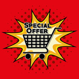 Fototapety Colorful design of Special Offer , vector illustration