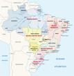 Постер, плакат: brazil administrative map