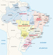 ������, ������: brazil administrative map
