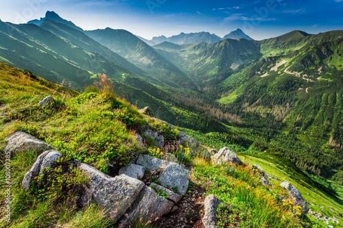Dawn in the Tatras mountains in summer, Poland
