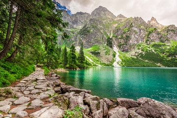 Beautiful mountains pond at summer, Poland © shaiith