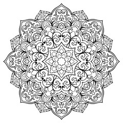 Oriental floral mandala.