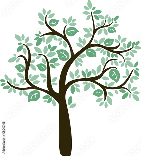 green cartoon vector tree