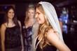 Obrazy na płótnie, fototapety, zdjęcia, fotoobrazy drukowane : Woman celebrating her bachelorette party