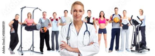 Fototapeta Young medical doctor woman.