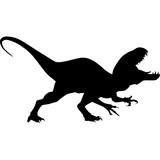 Dinosaur. Raptor tyrannosaurus vector black silhouette