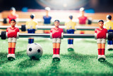 Fototapety table football soccer game, backlight