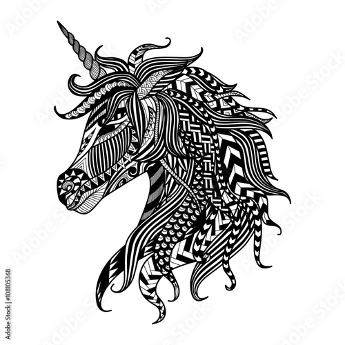 zeichnendes-einhorn-zentangle-art-fur-malbuch-tatowierung-hemddesign-logo-zeichen