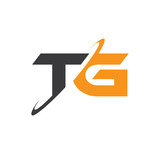 TG initial logo with double swoosh