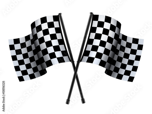 Deurstickers F1 Checked sport flag