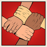 Fototapety Handshake people of different nationalities and races