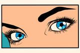 Fototapety Beautiful blue eyes girl