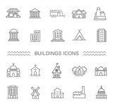 Fototapety Building Icons set, Government