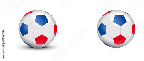 ballon de foot tricolore bleu blanc rouge fichier vectoriel libre de droits sur la banque d. Black Bedroom Furniture Sets. Home Design Ideas